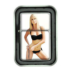 Sexy Women Design 08 Oil Lighter with Gift Box Swimsuit Model Hot Babe Blonde