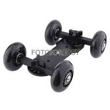 Pro Table Top Dolly Mini Car Skater Track Slider For DSLR Video Film 700D 7D 70D