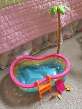 Barbie Doll Beach Party Swim Pool Palm Tree Outdoor Yard Furniture