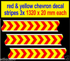 3960mm Slot car Scalextric Barrier chevron adhesive sticker Model Race Logo Lego