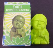 "POCKET BUDDHA FIGURINE ""FAITH"" (GREEN) BUDDHA"