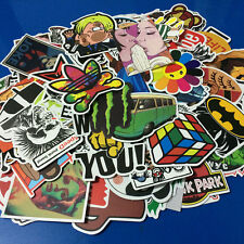 50Pieces Stickers Skateboard Sticker Graffiti Laptop Car Luggage Decals mix lo