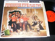 Unusual TRAD JAZZ LP Firehouse Five + Two CRASHES A PARTY Stereo Banner Fun Covr