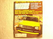 Motor Trend 1980 November Mustang Dodge Colt Porsche 935 1938 Oldsmobile LA38
