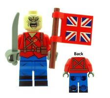 Custom Eddie The Trooper (Iron Maiden) Mascot with Flag Printed on LEGO Parts