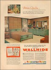 1957 Vintage ad for Pittsburgh Paints`Wallhide`Retro furniture (021816)