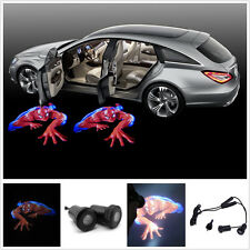 3D Spider-Man LED Car Door Logo Ghost Shadow Projector Welcome Light 1 x Pair