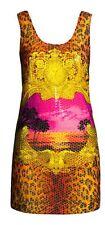H&M Versace Sciarpa Vestito Stampa PAILLETTES IMPREZIOSITO Leopardo RARA UK 10 EUR 36 US 6