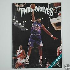 Karl Malone MN Timberwolves Game Program - December 23, 1996 - Utah Jazz