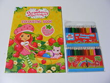 KINDER STRAWBERRY SHORTCAKE FÄRBUNG MALBUCH + 36 BUNTSTIFTE