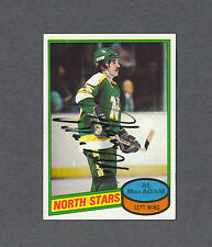 Al MacAdam signed North Stars 1980-81 Topps hockey card