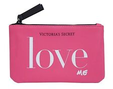 Victoria's Secret LOVE ME Mini Coin Pouch Cosmetic Make-up Bag in Hot Pink