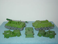 Old Vintage Toy US Army WWII Personnel Carriers And Jeeps From The 1960s VG Cond