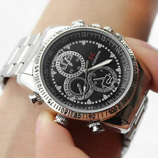 8GB HD Silver Waterproof Hidden Spy Wrist Watch Cam Mini DVR Video SPY Camera