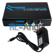 3RCA AV CVBS Composite & S-Video R/L Audio to HDMI Converter Adapter Upscaler