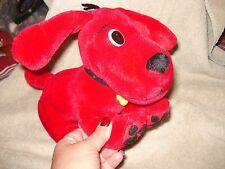 "Clifford the Big Red Dog Plush Bendable Pose-able Plush Yellow Bone Name 11""MINT"