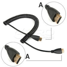 0.6M/2M High Speed HDMI (A) to HDMI (A) Spring Curl Flexible Cable V1.4 4K UK