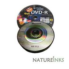 10 Traxdata De marca Magic Plata DVD-R 16x discos en blanco 4,7 GB Ritek F01