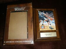 """VINTAGE SPORTS COLLECTIBLES SPORTS PLAQUE """"SHAQ""""  WITH COA"""