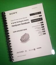 COLOR PRINTED Sony Video Camera HDR SR5 SR7 SR8 Manual User Guide 118 Pages