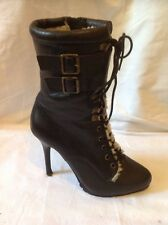 Aldo Black Ankle Leather Boots Size 37