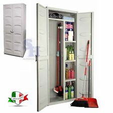 GENSINI ARMADIO MOBILE MOBILETTO PORTA SCOPE 2 ANTE ESTERNO INTERNO 65X45X172 CM