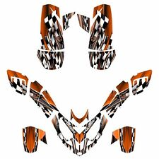 Polaris Predator 500 graphics racing decal sticker kit NO2500 Orange