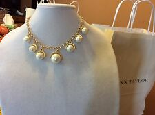 $44.99 Ann Taylor Gold Pearl Statement Necklace 144 (2)