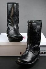 Alegria Vale Boots Black Rose Embossed Leather New With Box WARM! 39 EU 8.5 US