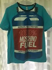 NEW MOSCHINO SHIRT MEN SIZE M BLUE COLOR