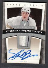 Shane Obrien 2006-07 Hot Prospects Prized Prospects Rookie Auto Patch Card #102