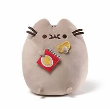 "GUND 9.5"" STUFFED PLUSH PUSHEEN CAT CRUNCHING SOUNDING POTATO CHIPS BAG"