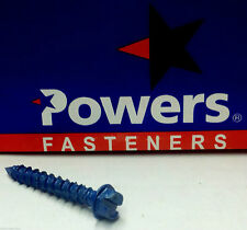 """30 Powers Fasteners Tapper Perma-Seal 1/4"""" x 2 1/4"""" Concrete Screw Anchor 41561"""