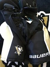 Pittsburgh PENGUINS Bauer Total One 95 S Black Gold NEW Hockey Pants Pro Stock