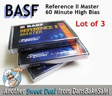 BASF Reference II Master 60 Min High Bias Blank Audio Cassettes Lot of 3 Singles