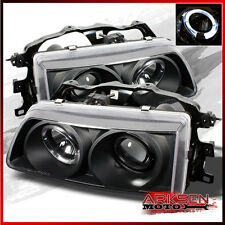 Fits 88-89 Civic/Crx Hatchback JDM BLK Halo Projector Head Lights Lamps Pair
