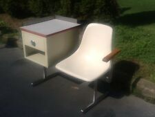 Vintage HOWELL Medical Table & Shell Chair  - Aluminum Frame - Very Nice