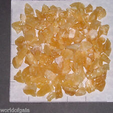 CALCITE CHUNKS, ORANGE, 1/2-1 inch long rough 1/2 lb bulk