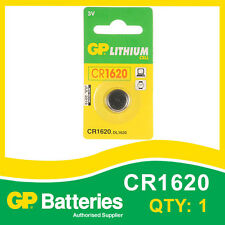 GP Lithium Button Battery CR1620 (DL1620) card of 1 [WATCH & CALCULATOR + OTHER]