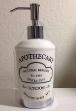 HOTEL COLLECTION APOTHECARY  CERAMIC LIQUID SOAP PUMP DISPENSER LONDON