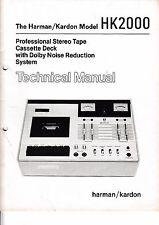 Service Manual-Anleitung für Harman Kardon HK 2000