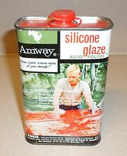 VINTAGE 1967 AMWAY SILICONE GLAZE AUTO POLISH GAS OIL EMPTY 16 OZ DISPLAY CAN