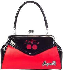 SOURPUSS BACKSEAT BABY CHERRIES CHERRY BLACK PURSE PINUP ROCKABILLY BAG