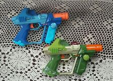 2 LAZER TAG TEAM OPS Laser Tag Blaster Guns by Tiger Electronics Blue & Green