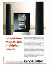 PUBLICITE ADVERTISING  1994   BANG & OLUFSEN  Hi-fi système musical