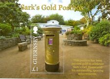 Guernsey- Sark GOLD Postbox min sheet mnh 2013