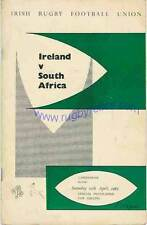 IRELAND v SOUTH AFRICA 10 Apr 1965 RUGBY PROGRAMME at DUBLIN