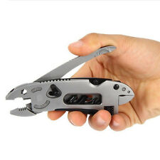 Jaw Screwdriver EDC Set  Knife Adjustable Wrench Survival Tool Multi-tool Pliers