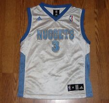 *Used* ALLEN IVERSON Denver Nuggets adidas NBA Jersey Youth Boys Medium 10-12