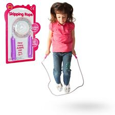 PINK RAINBOW SKIPPING ROPE GIRLS TOY GIFT OUTDOOR SKIP BIRTHDAY PARTY BAG FILLER